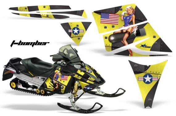 Ski Doo Rev AMR Graphics Kit TBOMBER Yellow 570x376 - Ski-Doo Rev Graphics