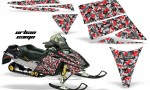 Ski Doo Rev AMR Graphics Kit URBANCAMO Red 150x90 - Ski-Doo Rev Graphics