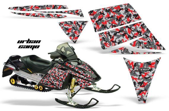 Ski Doo Rev AMR Graphics Kit URBANCAMO Red 570x376 - Ski-Doo Rev Graphics