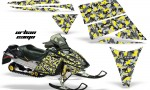Ski Doo Rev AMR Graphics Kit URBANCAMO Yellow 150x90 - Ski-Doo Rev Graphics