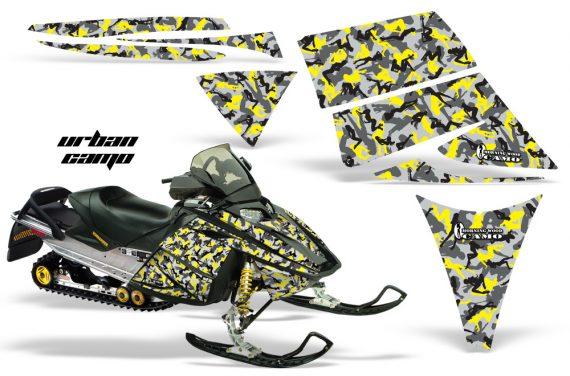 Ski Doo Rev AMR Graphics Kit URBANCAMO Yellow 570x376 - Ski-Doo Rev Graphics