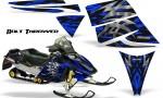 Ski Doo Rev CreatorX Graphics Kit Bolt Thrower Blue 150x90 - Ski-Doo Rev Graphics
