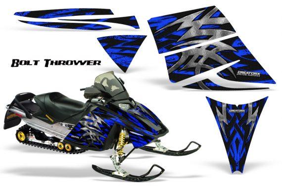 Ski Doo Rev CreatorX Graphics Kit Bolt Thrower Blue 570x376 - Ski-Doo Rev Graphics