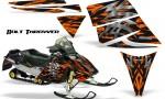 Ski Doo Rev CreatorX Graphics Kit Bolt Thrower Orange 150x90 - Ski-Doo Rev Graphics