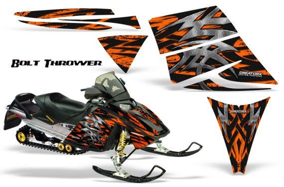 Ski Doo Rev CreatorX Graphics Kit Bolt Thrower Orange 570x376 - Ski-Doo Rev Graphics