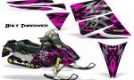 Ski Doo Rev CreatorX Graphics Kit Bolt Thrower Pink 150x90 - Ski-Doo Rev Graphics
