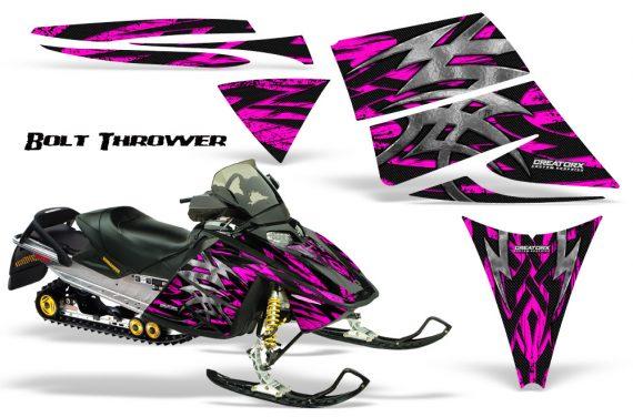 Ski Doo Rev CreatorX Graphics Kit Bolt Thrower Pink 570x376 - Ski-Doo Rev Graphics
