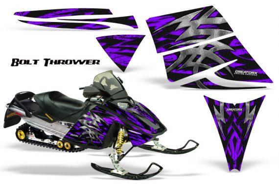 Ski Doo Rev CreatorX Graphics Kit Bolt Thrower Purple 570x376 - Ski-Doo Rev Graphics
