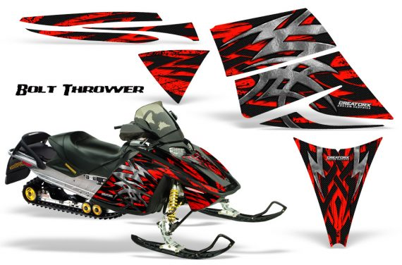 Ski Doo Rev CreatorX Graphics Kit Bolt Thrower Red 570x376 - Ski-Doo Rev Graphics