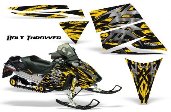 Ski Doo Rev CreatorX Graphics Kit Bolt Thrower Yellow 570x376 - Ski-Doo Rev Graphics