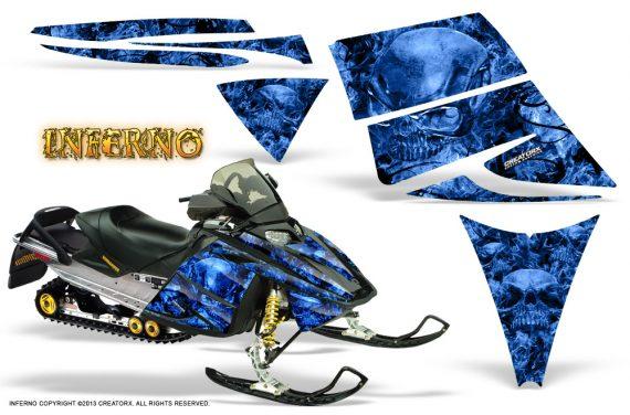 Ski Doo Rev CreatorX Graphics Kit Inferno Blue 570x376 - Ski-Doo Rev Graphics