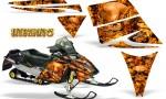 Ski Doo Rev CreatorX Graphics Kit Inferno Orange 150x90 - Ski-Doo Rev Graphics