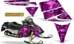 Ski Doo Rev CreatorX Graphics Kit Inferno Pink 150x90 - Ski-Doo Rev Graphics