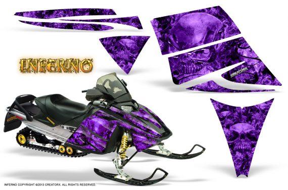 Ski Doo Rev CreatorX Graphics Kit Inferno Purple 570x376 - Ski-Doo Rev Graphics