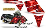 Ski Doo Rev CreatorX Graphics Kit Inferno Red 150x90 - Ski-Doo Rev Graphics