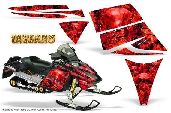Ski Doo Rev CreatorX Graphics Kit Inferno Red 570x376 - Ski-Doo Rev Graphics
