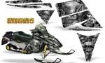 Ski Doo Rev CreatorX Graphics Kit Inferno Silver 150x90 - Ski-Doo Rev Graphics
