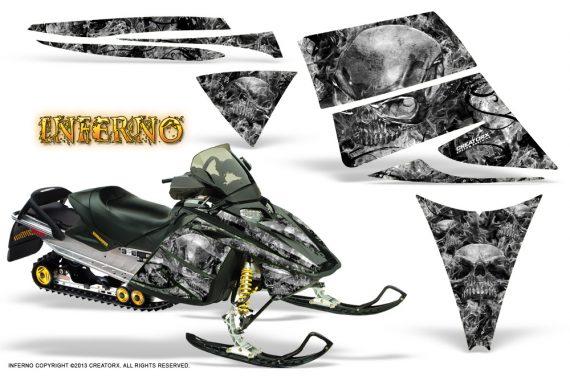 Ski Doo Rev CreatorX Graphics Kit Inferno Silver 570x376 - Ski-Doo Rev Graphics