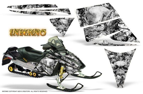 Ski Doo Rev CreatorX Graphics Kit Inferno White 570x376 - Ski-Doo Rev Graphics