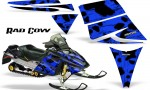 Ski Doo Rev CreatorX Graphics Kit Rad Cow Blue 150x90 - Ski-Doo Rev Graphics