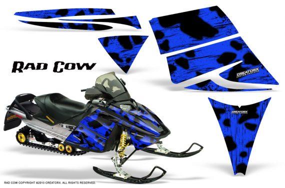 Ski Doo Rev CreatorX Graphics Kit Rad Cow Blue 570x376 - Ski-Doo Rev Graphics