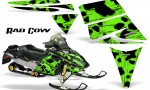 Ski Doo Rev CreatorX Graphics Kit Rad Cow Green 150x90 - Ski-Doo Rev Graphics