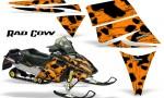 Ski Doo Rev CreatorX Graphics Kit Rad Cow Orange 150x90 - Ski-Doo Rev Graphics