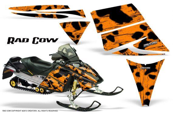 Ski Doo Rev CreatorX Graphics Kit Rad Cow Orange 570x376 - Ski-Doo Rev Graphics