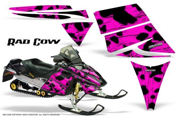Ski Doo Rev CreatorX Graphics Kit Rad Cow Pink 570x376 - Ski-Doo Rev Graphics