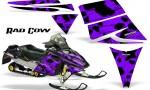 Ski Doo Rev CreatorX Graphics Kit Rad Cow Purple 150x90 - Ski-Doo Rev Graphics