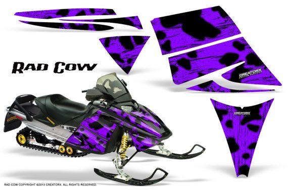 Ski Doo Rev CreatorX Graphics Kit Rad Cow Purple 570x376 - Ski-Doo Rev Graphics