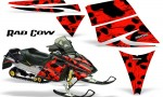 Ski Doo Rev CreatorX Graphics Kit Rad Cow Red 150x90 - Ski-Doo Rev Graphics