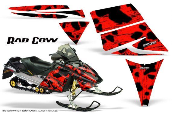 Ski Doo Rev CreatorX Graphics Kit Rad Cow Red 570x376 - Ski-Doo Rev Graphics