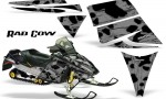 Ski Doo Rev CreatorX Graphics Kit Rad Cow Silver 150x90 - Ski-Doo Rev Graphics