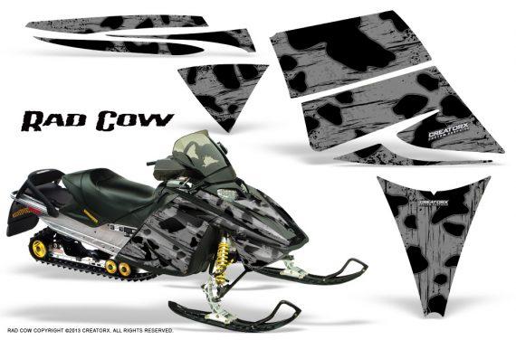 Ski Doo Rev CreatorX Graphics Kit Rad Cow Silver 570x376 - Ski-Doo Rev Graphics