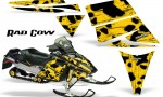 Ski Doo Rev CreatorX Graphics Kit Rad Cow Yellow 150x90 - Ski-Doo Rev Graphics