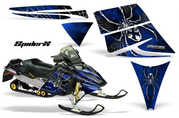 Ski Doo Rev CreatorX Graphics Kit SpiderX Blue 570x376 - Ski-Doo Rev Graphics