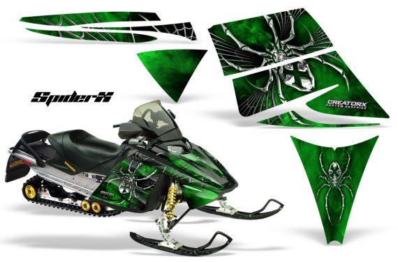 Ski Doo Rev CreatorX Graphics Kit SpiderX Green 570x376 - Ski-Doo Rev Graphics