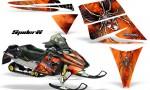 Ski Doo Rev CreatorX Graphics Kit SpiderX Orange 150x90 - Ski-Doo Rev Graphics