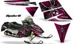 Ski Doo Rev CreatorX Graphics Kit SpiderX Pink 150x90 - Ski-Doo Rev Graphics