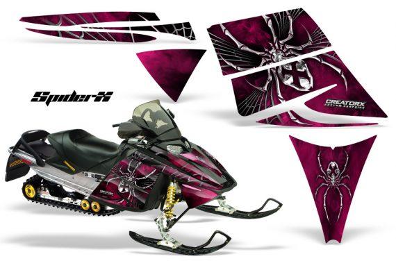 Ski Doo Rev CreatorX Graphics Kit SpiderX Pink 570x376 - Ski-Doo Rev Graphics