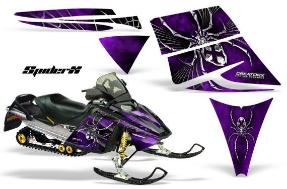 Ski Doo Rev CreatorX Graphics Kit SpiderX Purple 570x376 - Ski-Doo Rev Graphics
