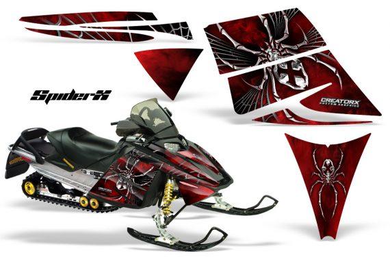 Ski Doo Rev CreatorX Graphics Kit SpiderX Red 570x376 - Ski-Doo Rev Graphics