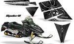 Ski Doo Rev CreatorX Graphics Kit SpiderX Silver Black 150x90 - Ski-Doo Rev Graphics