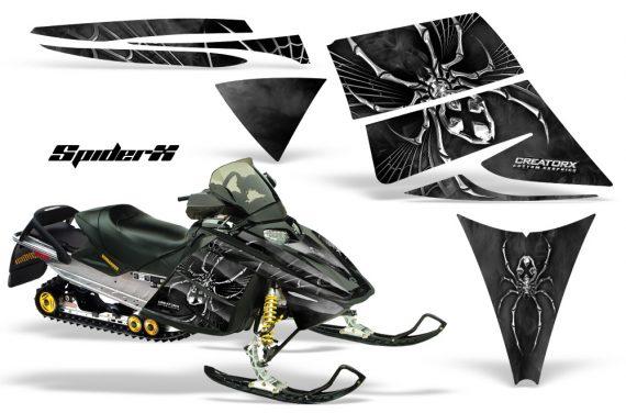 Ski Doo Rev CreatorX Graphics Kit SpiderX Silver Black 570x376 - Ski-Doo Rev Graphics