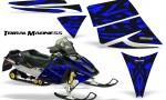 Ski Doo Rev CreatorX Graphics Kit Tribal Madness Blue 150x90 - Ski-Doo Rev Graphics