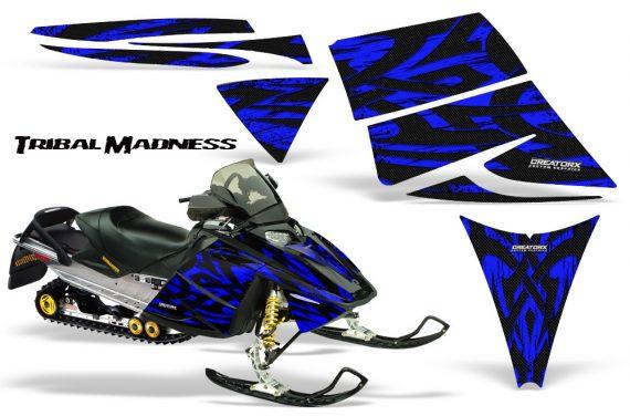 Ski Doo Rev CreatorX Graphics Kit Tribal Madness Blue 570x376 - Ski-Doo Rev Graphics
