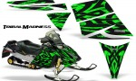 Ski Doo Rev CreatorX Graphics Kit Tribal Madness Green 150x90 - Ski-Doo Rev Graphics