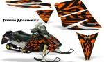 Ski Doo Rev CreatorX Graphics Kit Tribal Madness Orange 150x90 - Ski-Doo Rev Graphics