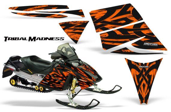 Ski Doo Rev CreatorX Graphics Kit Tribal Madness Orange 570x376 - Ski-Doo Rev Graphics
